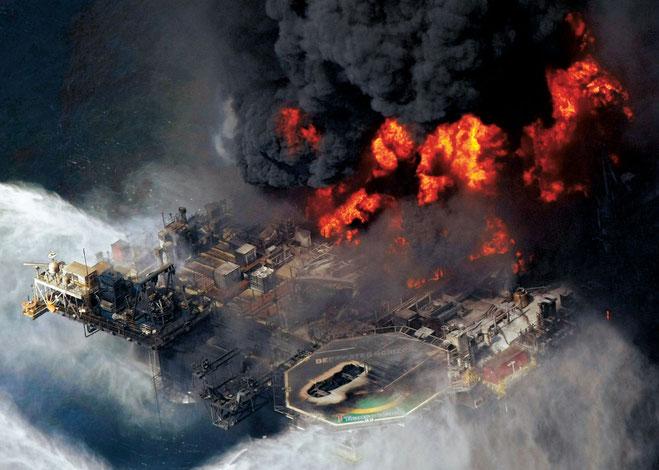 """Olieudslip på BP's olieplatform """"Deepwater Horizon""""  i 2010"""