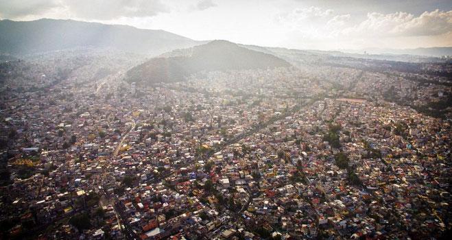 Mexico City med dens omkring 9 millioner inbyggere