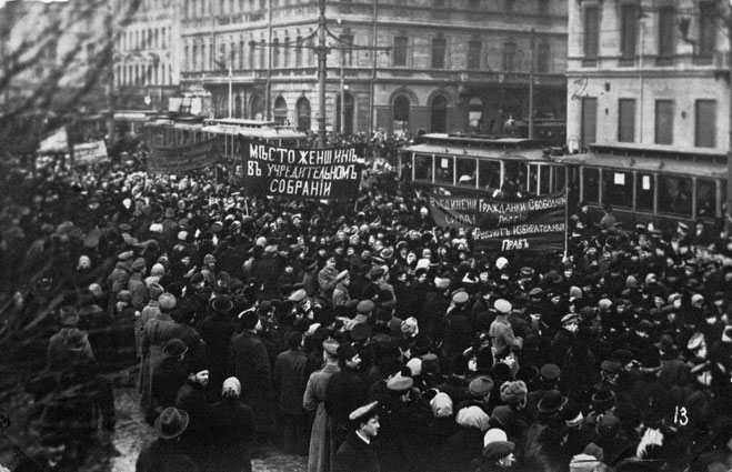 Demonstration i Petrograd 1917