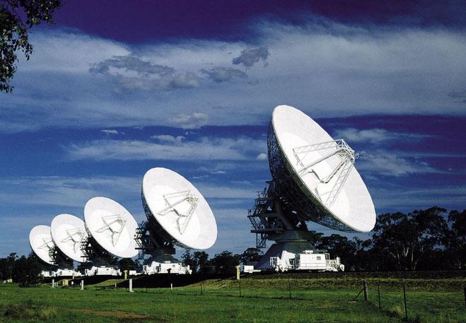 'Australia Telescope Compact Array' (ATCA) ved byen Narrabri