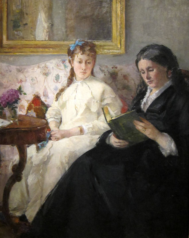 ベルト・モリゾ《母と姉》1869-1870年