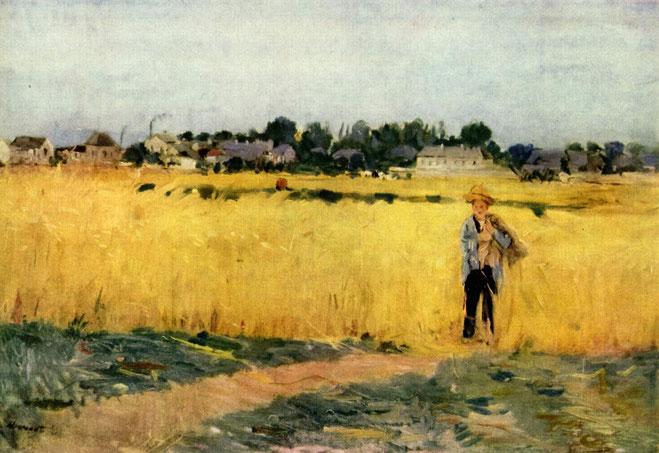 ベルト・モリゾ《穀物畑》1875年