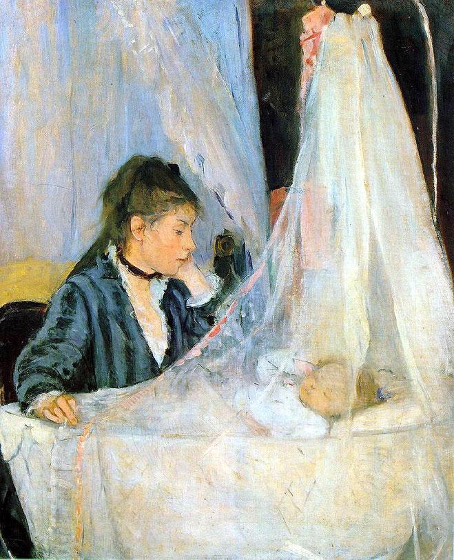 ベルト・モリゾ《クレイドル》1872年