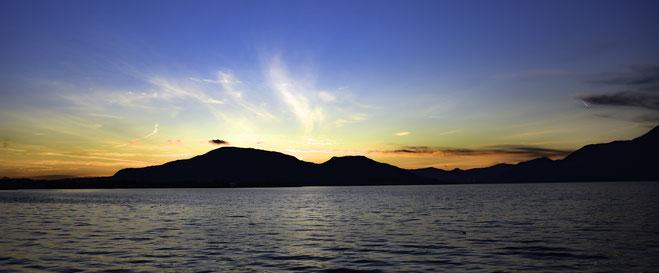 Il Tramonto sul Lago d'Iseo