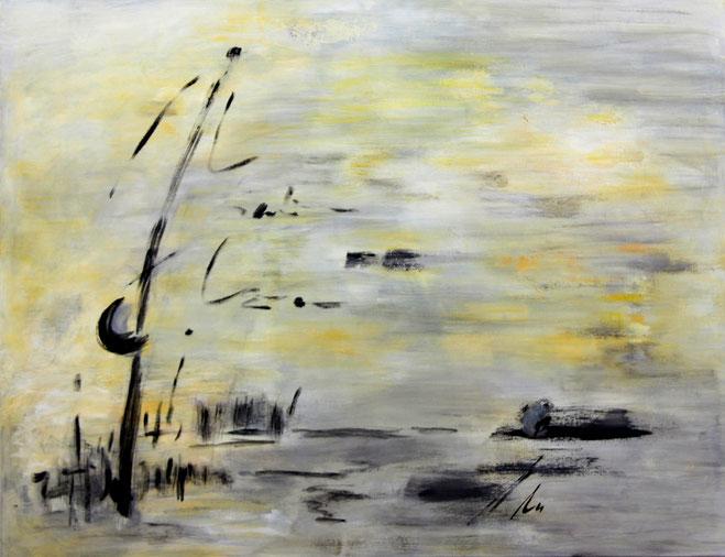 ohne Titel  Acryl auf Leinwand  ca. 90 x 120 cm