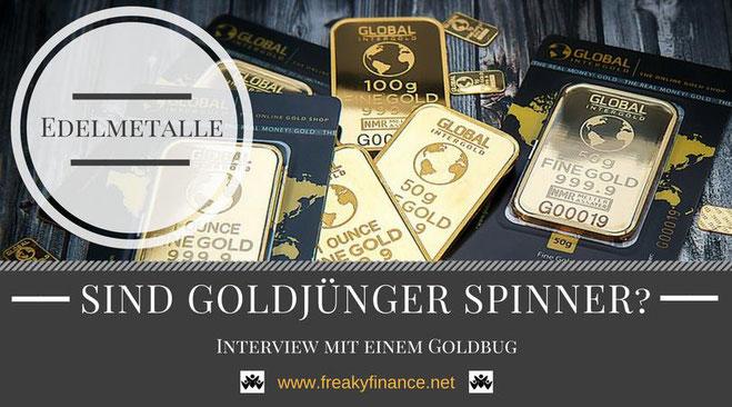 freaky finance, Interview, Gold, Edelmetalle, Goldmünzen, gestapelte Goldmünzen