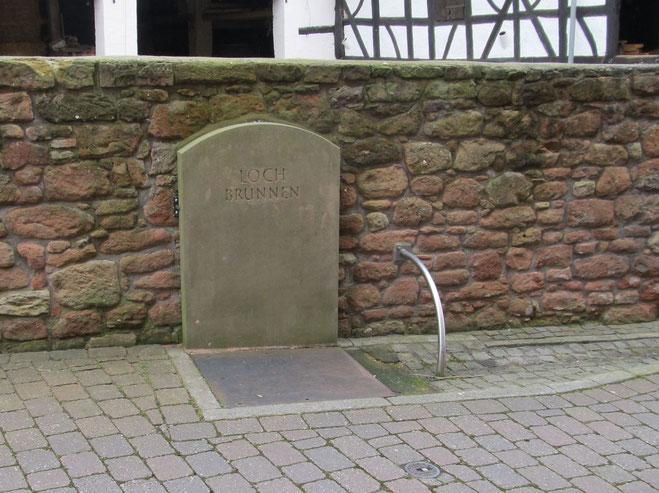 Altstadtrundgang Otterberg, ehemaliger Lochbrunnen