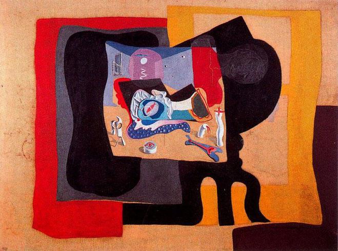 Натюрморт в свете сиреневой луны - Сальвадор Дали (1926)