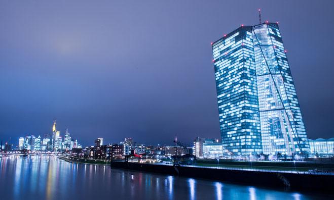 Europäische Zentralbank in Frankfurt am Main - cold as ice