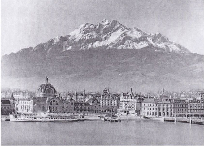 Luzern mit Pilatus ca. 1930