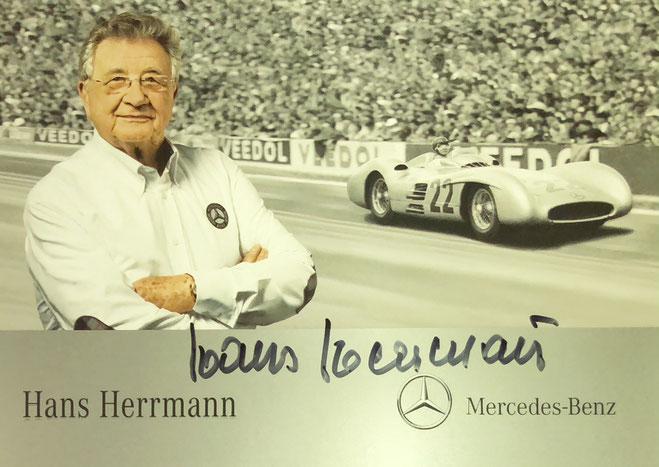 Autograph Hans Herrmann Autogramm