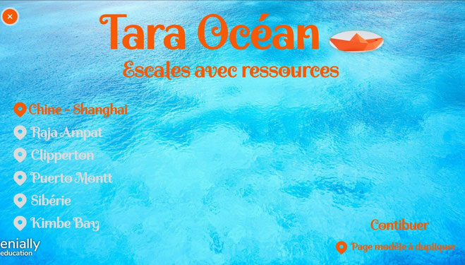 Tara Océan Echos d'escale Genially cycle2 cycle3 CE2 CM1