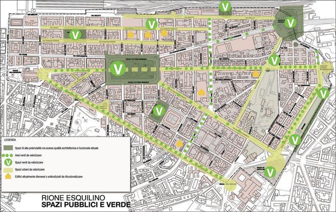 Mappa del sito Esquilino 2020