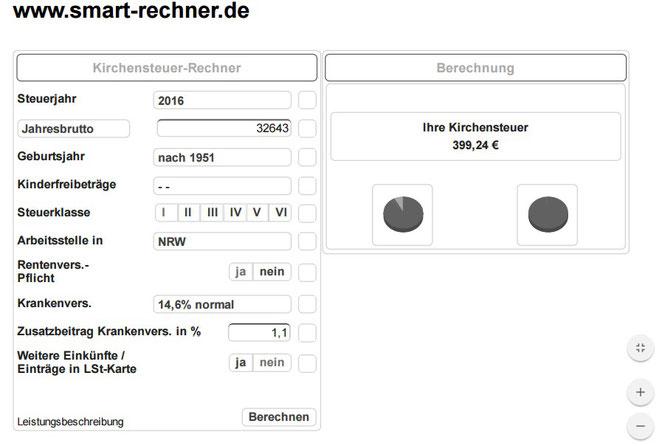 Kirchensteuer Berechnung