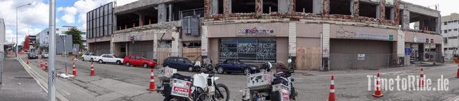 Neuseeland - Motorrad - Weltreise - Christchurch - verheerende Schäden nach Erdbeben 2011