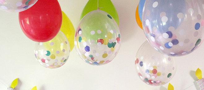 como rellenar globos con papel
