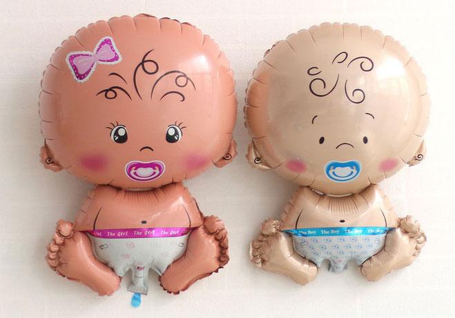 globos metálicos de bebe para baby shower
