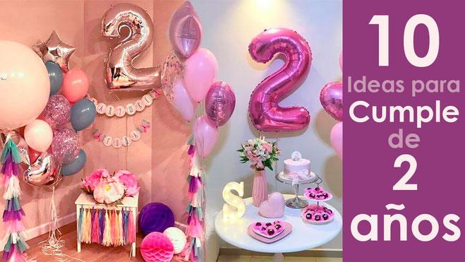 10 ideas para cumpleaños de 2 años de niña