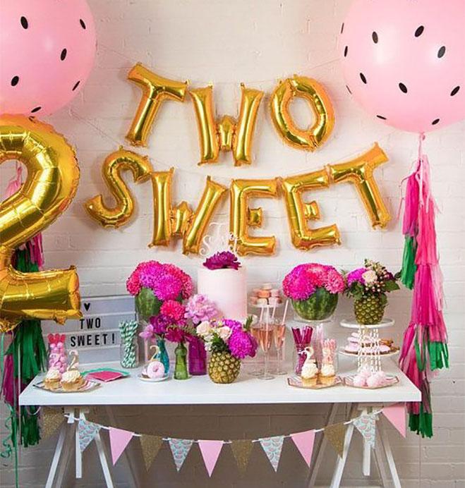decoracion fiesta de niña 2 años
