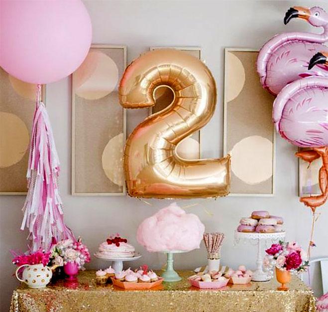 mesa de dulces cumpleaños niña de 2 años