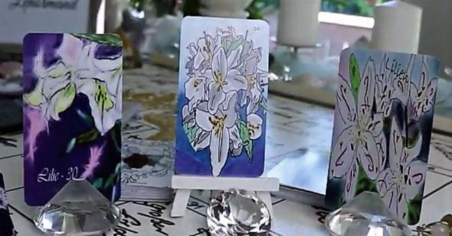Lenormandkarte die Lilie verschiedene Lenormanddecks