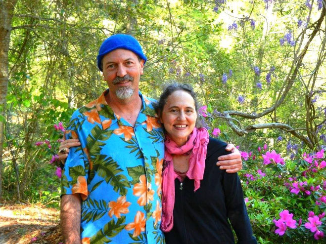 Chris Ott & his sister Leslie Ott Walsh, Meher Spiritual Center, June 2013
