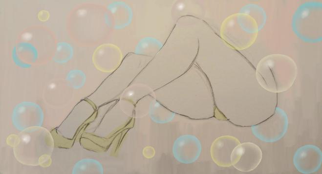 Sexy Legs in Heels Bleistiftzeichnung