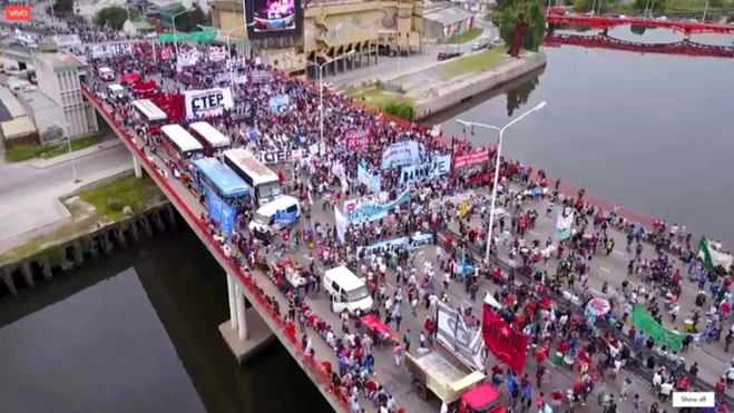 'Polo Obrero' blokadeaktion i Buenos Aires, marts 2017