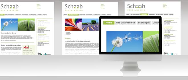 Schaab DRUCK_MEDIEN Webdesign Düsseldorf