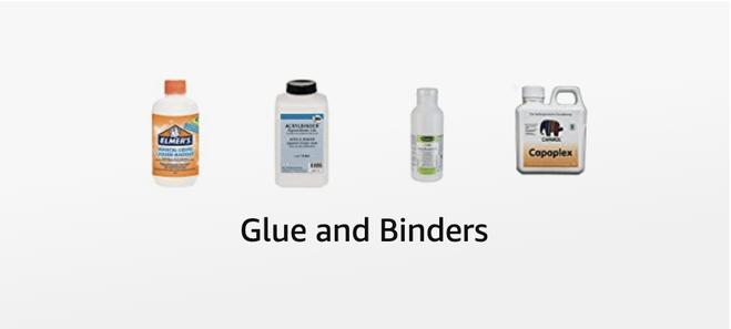 Einige Shop Produkte wie Bindemittel und Kleber zu bestellen im Shop