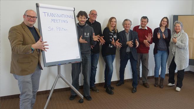Das erste Meeting im Rahmen eines EU-Projektes in St. Pölten