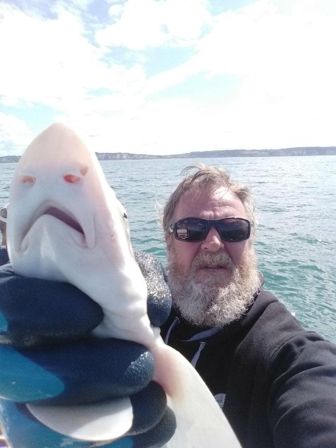 Selfie avec mon copain le requin