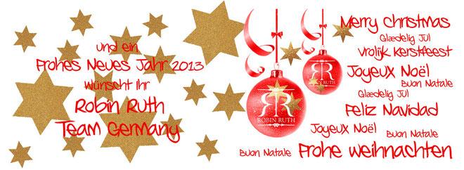 Frohe Weihnachten wünscht Robin Ruth