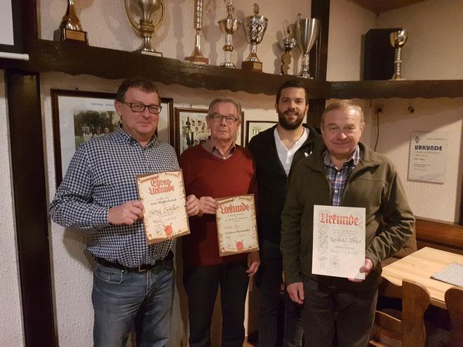 Ehrungen Mitgliederversammlung VfB Theley 2017