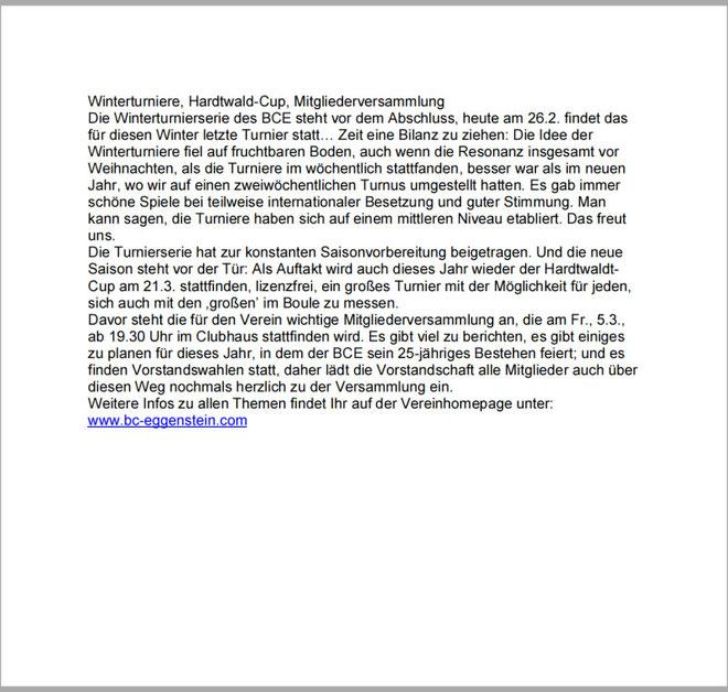 Amtsblatt Bericht vom 26.02.2010
