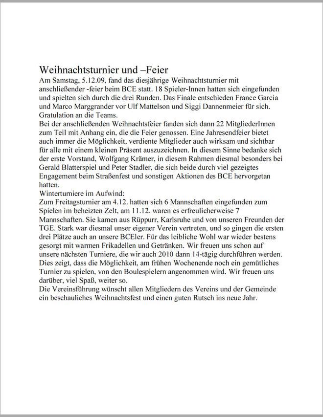 Amtsblatt-Bericht vom05.12.2009