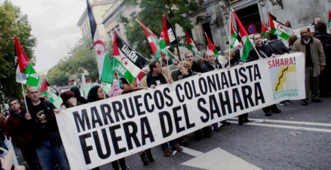 Marokkos hovedstad Rabat,  august 2017:  Demonstration imod marrokansk kolonialisme i Vestsahara