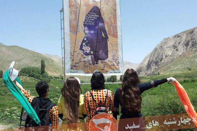 """I 2014 tog den iranske menneskerettighedsaktivist Masih Alinejad initiativet til kampagnen """"My stealthy freedom"""""""