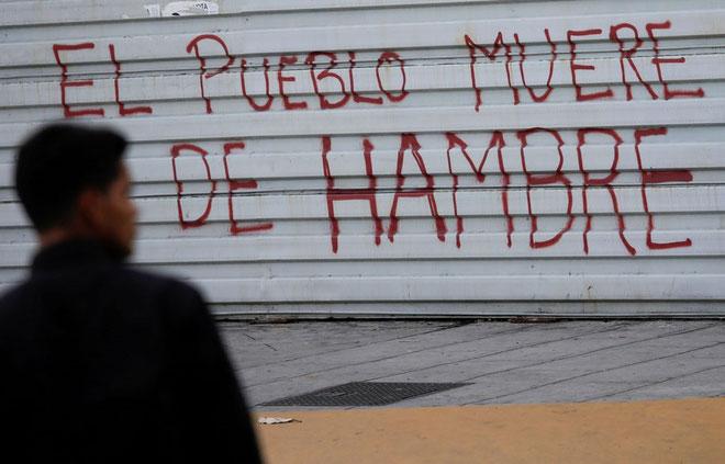 """""""Folk dør af sult i Caracas"""""""