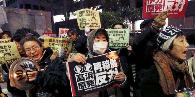 Anti-atomkraftprotester i Tokyo