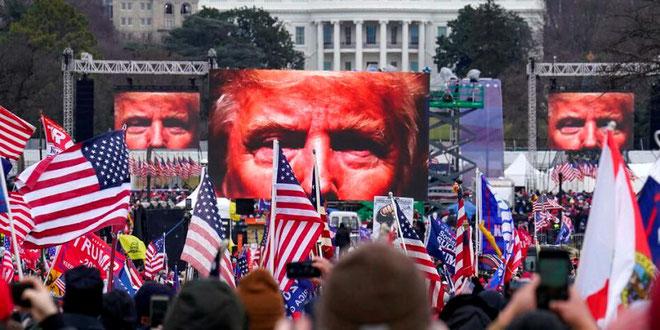 Trump tilhængere foran Capitol i Washington den 6. januar 2021