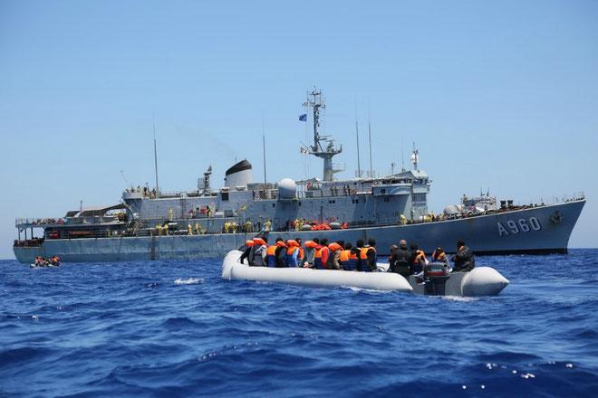 Frontex-skib i Ægæerhavet