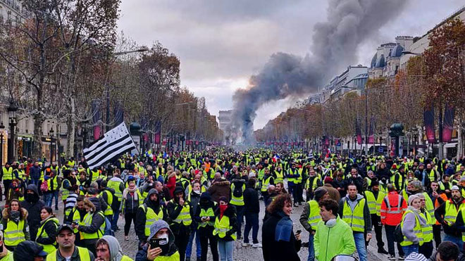 GiletsJaunes - demo. Paris d. 21. september 2020