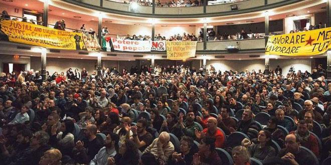 'Potere al Popolo's kongres, d. 17. december 2017 i Rom