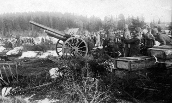 Den Røde Hær før stormen på  Kronstadt