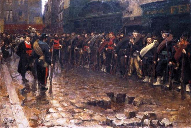 Opstanden forenede de revolutionære dissidenter med samfundets store hær af fattige og fornedrede, ofrene for spekulationer, for udbytning i fabrikkerne og clochard'erne, Seinebreddens omkringstrejfende skikkelser.