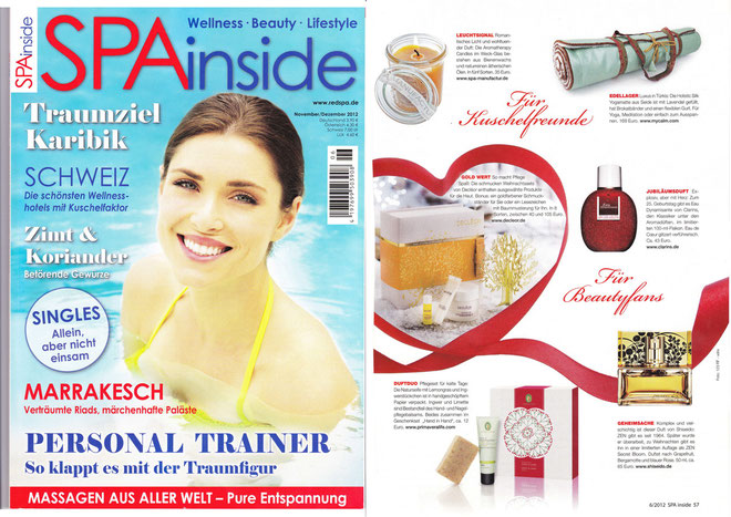 SPA INSIDE Nov/Dez 2012 - AROMATHERAPY CANDLES