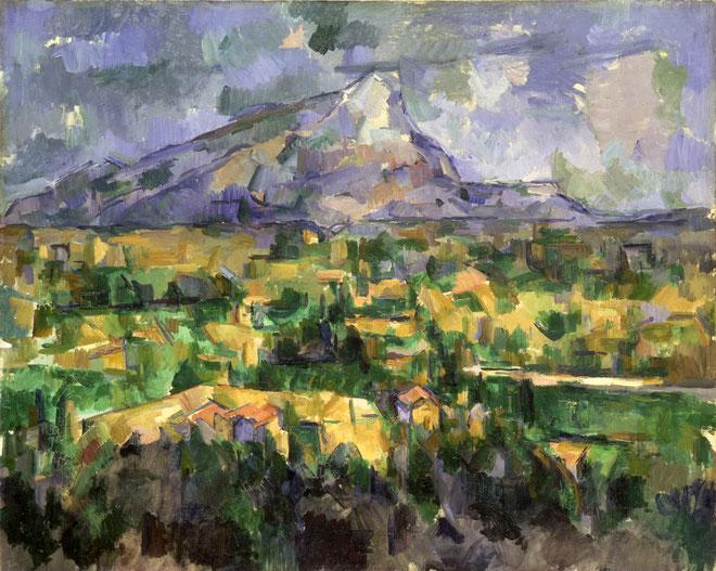 ポール・セザンヌ「サント・ヴィクトワール山」(1906年)
