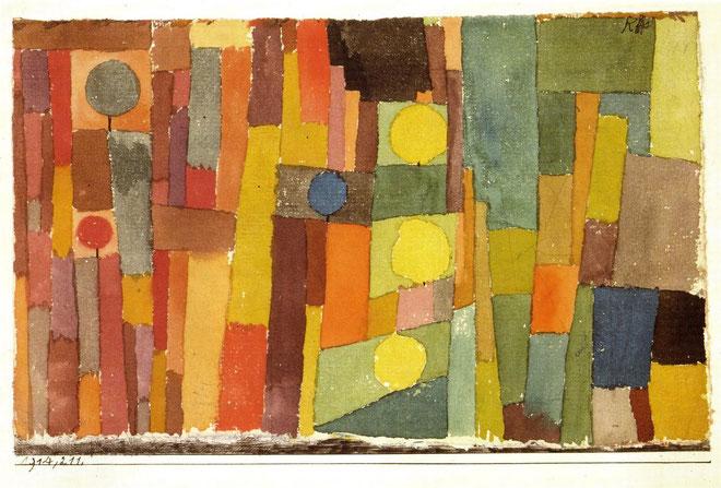 パウル・クレー「In the Style of Kairouan」(1914年)