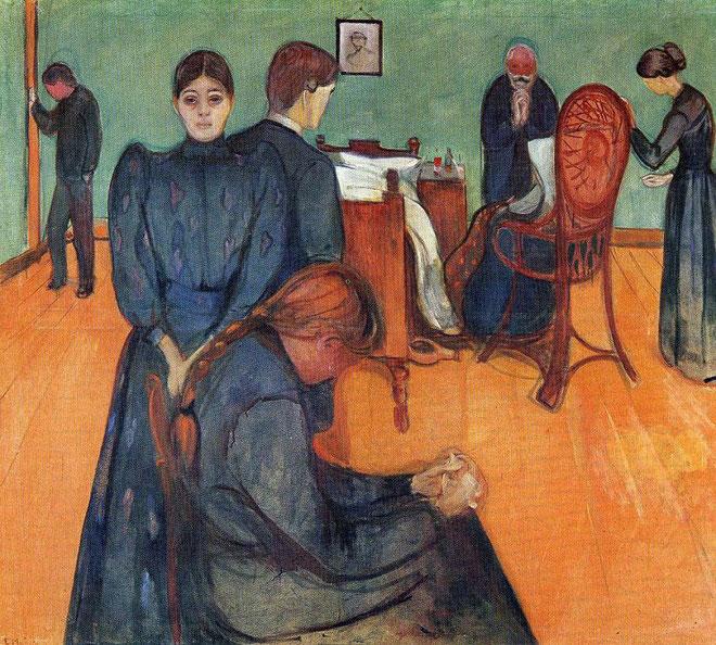 《病室での死》(1895年)